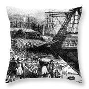 New York: Immigrants, 1854 Throw Pillow