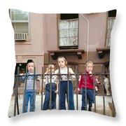New York Kids 1975 Throw Pillow