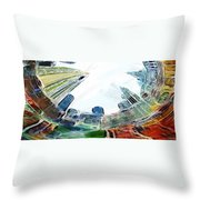 New York Looking Up The Sky Throw Pillow
