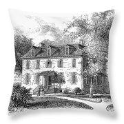 New York Mansion, 1748 Throw Pillow