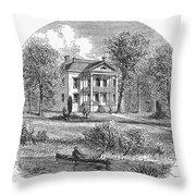 New York: Mansion, 1760 Throw Pillow