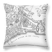 New York: Maps Throw Pillow