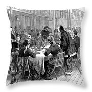 New York: New Years Party Throw Pillow by Granger