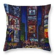 New York Nights Throw Pillow