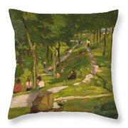 New York Park Throw Pillow