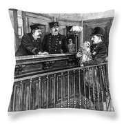 New York: Police Station Throw Pillow