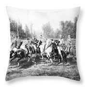 New York: Polo Club, 1877 Throw Pillow