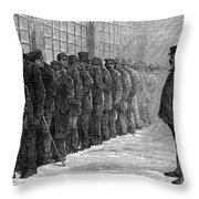 New York: Poorhouse, 1875 Throw Pillow