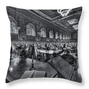 New York Public Library Main Reading Room Vi Throw Pillow