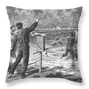 New York: Rockaway Beach Throw Pillow