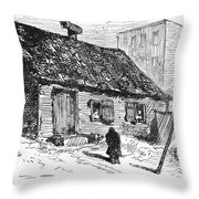 New York: Shanty, 1875 Throw Pillow