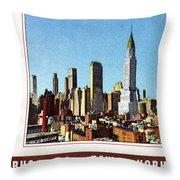 New York: Skyscrapers Throw Pillow