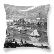 New York State: Hotel, 1862 Throw Pillow