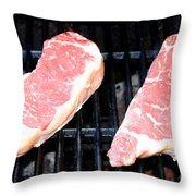New York Steak Throw Pillow