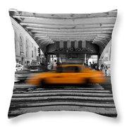 New York Taxi 1 Throw Pillow
