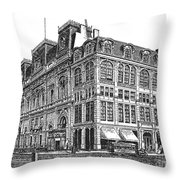 New York: Theater, 1869 Throw Pillow
