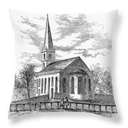 New York: Trinity Church Throw Pillow