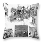 New York: Wash Day, 1889 Throw Pillow