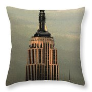 New York Watercolor 1 Throw Pillow