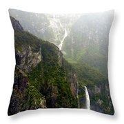 New Zealand's Milford Sound Throw Pillow