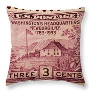Newburgh Ny Postage Stamp Throw Pillow