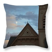 Newman United Methodist And Moon Throw Pillow