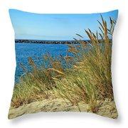 Newport Bay In Oregon Throw Pillow