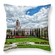 Newport Beach Temple  Throw Pillow
