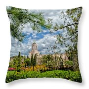 Newport Beach Temple Pine Throw Pillow