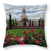 Newport Beach Temple Roses Throw Pillow