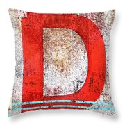 Newport D Throw Pillow by Carol Leigh