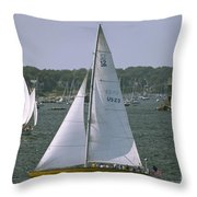 Newport Sailing Throw Pillow