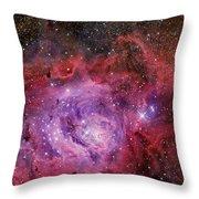 Ngc 6523, The Lagoon Nebula Throw Pillow