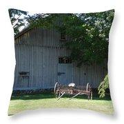 Nh Barn Throw Pillow