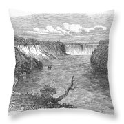 Niagara Falls, 1849 Throw Pillow