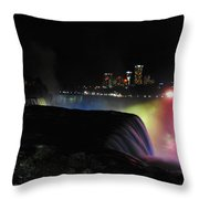 Niagara Falls American Side Throw Pillow