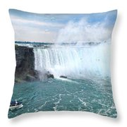 Niagara Falls And The Bubbles Throw Pillow