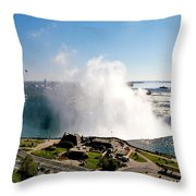 Niagara Falls From Above Throw Pillow