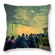 Niagara Falls From The Deck Maid Of The Mist Throw Pillow