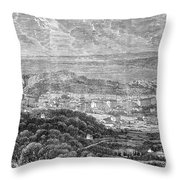 Nice, France, 1863 Throw Pillow