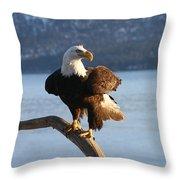 Nice Perch Throw Pillow