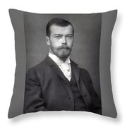Nicholas II From Russia Throw Pillow
