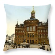 Nicolaus Copernicus Monument In Warsaw Poland Throw Pillow by International  Images