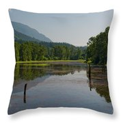 Nicomen Slough 2 Throw Pillow