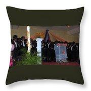 Nigerian Church Choir Throw Pillow
