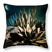 Night At The Desert's Edge Throw Pillow