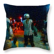 Night At The Roller Derby Throw Pillow