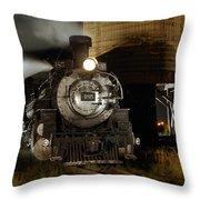 Night At The Water Tower Throw Pillow