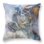 Night Blizzard Throw Pillow