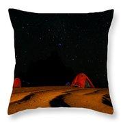 Night Camp Throw Pillow